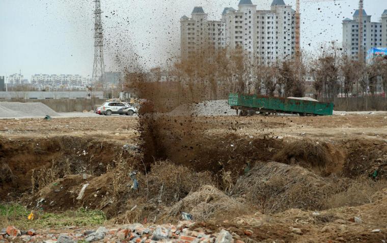 山东工地现70年前炮弹被引爆
