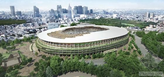 日本公布2020奥运主会场新设计图 使用大量木材