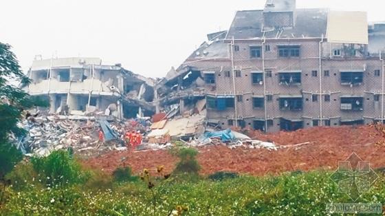 广东深圳山体滑坡致59人失联 因人工土堆垮塌
