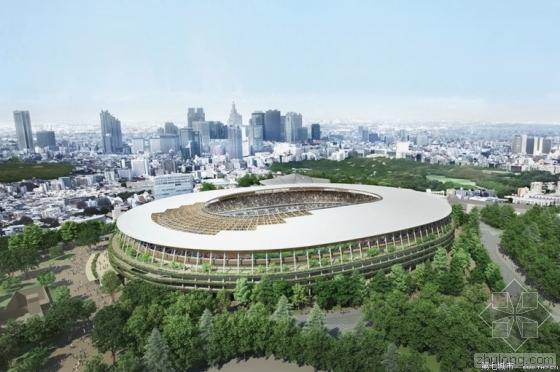 东京奥运会主体育场建筑设计方案获批 隈研吾赢得方案