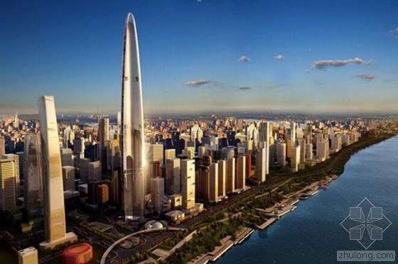 """""""世界第三、中国第二、华中第一""""武汉绿地中心破200米望明年底封"""