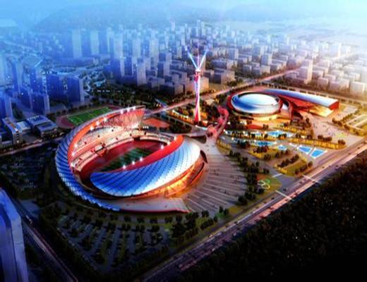 """安徽蚌埠投资12亿体育中心将开建 融入""""龙""""元素"""