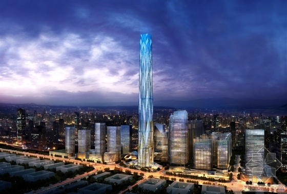 BIM助西部第一高楼成都绿地中心468 首节钢柱顺利开吊