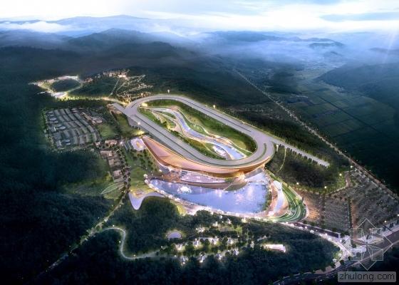 "Grimshaw联合NOW建筑师设计的韩国赛马""主题公园""及赛马场方案中"