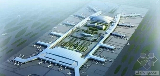 广州白云机场设计图资料下载-广州白云机场:T2航站楼将封顶 T3航站楼筹建中