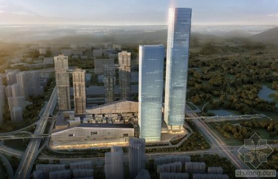 深业上城塔2钢结构封顶 高299米总钢量3.5万吨