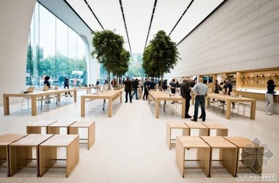 天津开了一家种了树的苹果旗舰店
