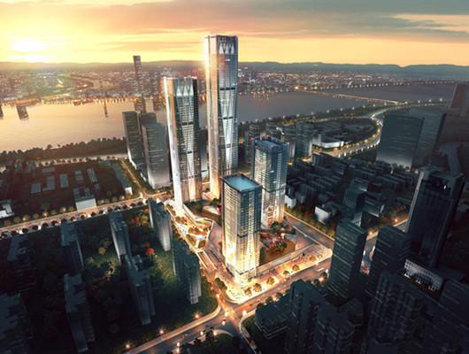 长沙湘江新区金融地标开工 总投资63亿元
