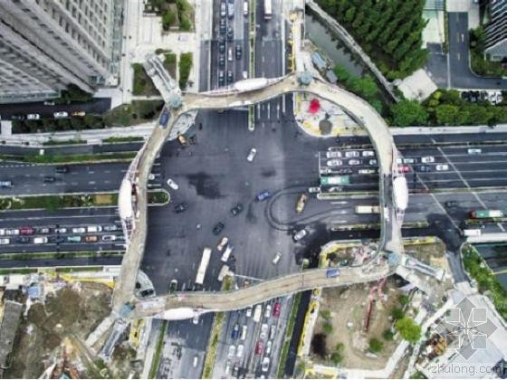 """天桥雨棚图资料下载-美!杭州仿生态学原理""""树形天桥"""""""