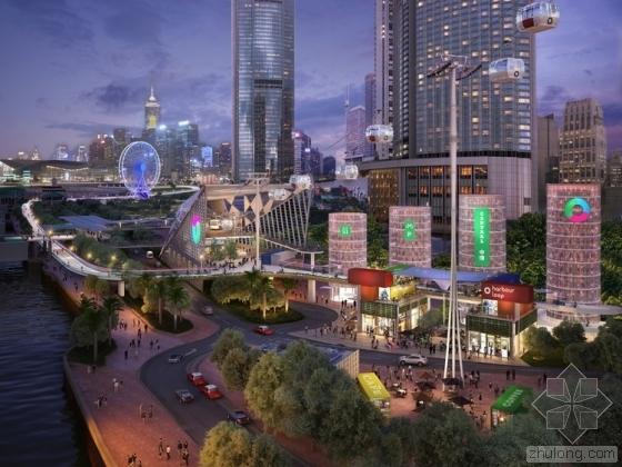 Lead 8 建筑事务所在香港港口设计人行天桥环路