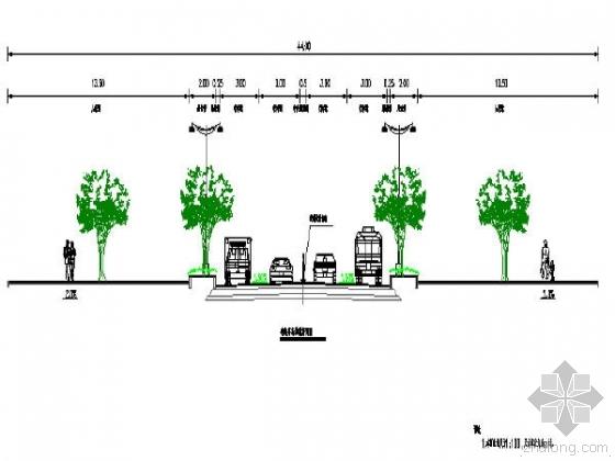重庆路宽23m含地下通道市政道路改造图纸全套173张CAD含地勘
