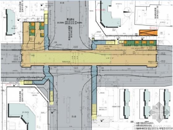 合肥轨道交通3号线4个出入口地下两层岛式站台车站设计图109张CAD