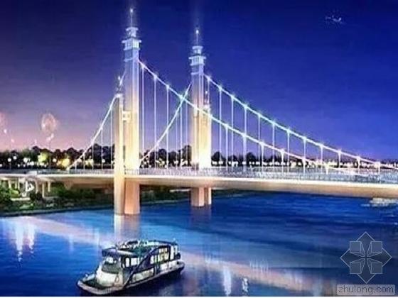 泉河大桥主桥钢-混混合梁独塔悬索桥及引桥(T型刚构桥34m跨现浇梁桥)CAD图纸341张