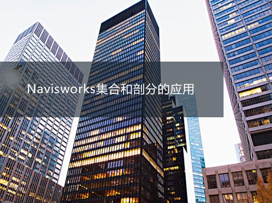 Navisworks集合和剖分的应用
