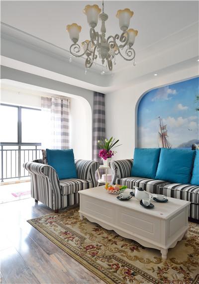 蓝天豚硅藻泥清新地中海风格
