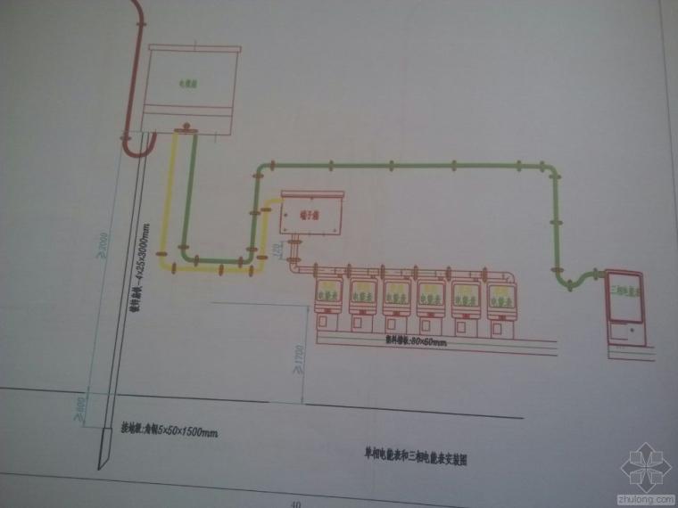 单相电能表和三相电能表安装图CAD电子版本