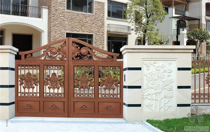 别样的别墅大门设计,能增加人们居住环境的舒适感!