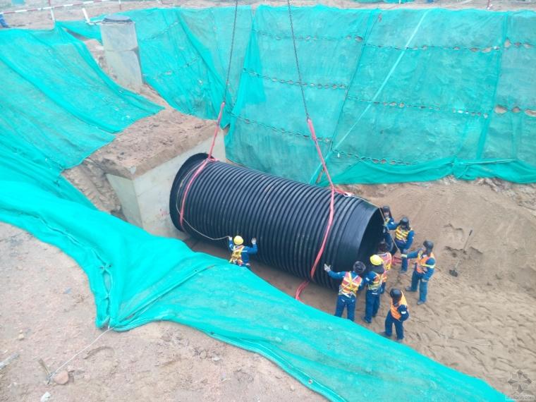 求助DN2200HDPE管穿越电缆沟的施工方法