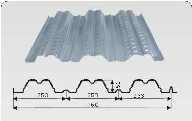 供应YX51-253-760型楼承板,板型新颖,利润率高!抗震板型