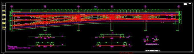 异型箱梁桥钢束平面图