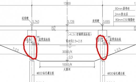 桩接盖梁,超出水面部分如何施工?