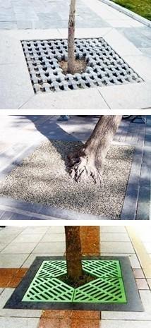 城市园林设计中的树池盖板样式