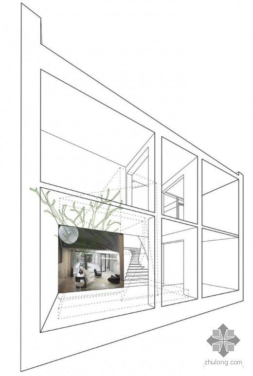 创意建筑-五维茶室
