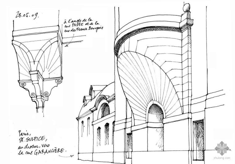 1000张国外珍贵建筑设计手绘学习素材(线稿+上色稿)