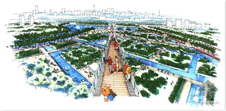 某中心公园手绘景观设计
