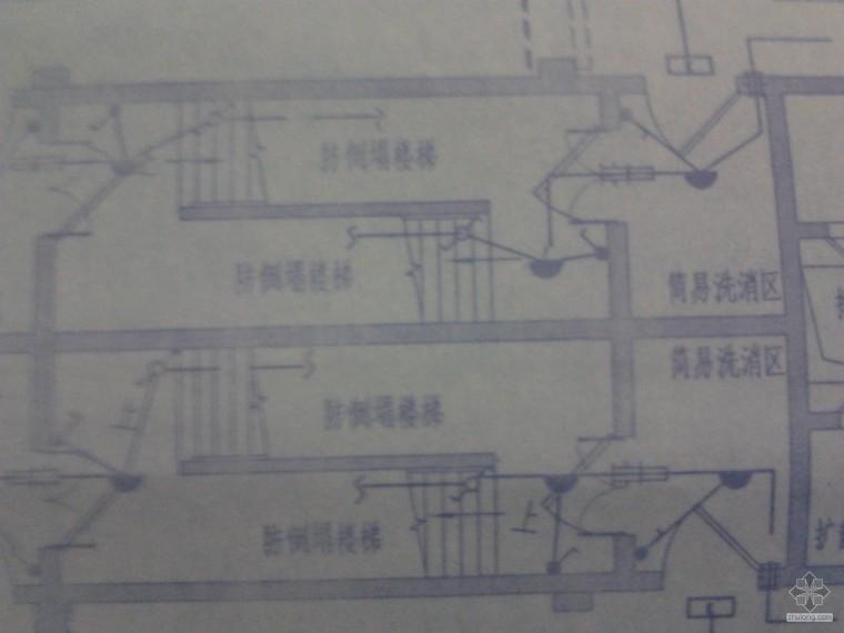 人防防倒塌楼梯照明施工的问题
