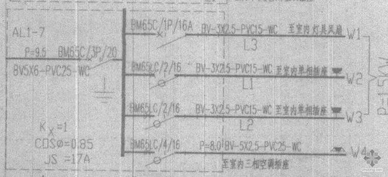 接待室配电箱AL1-7符合电气设计要求吗?先谢谢专家解答!