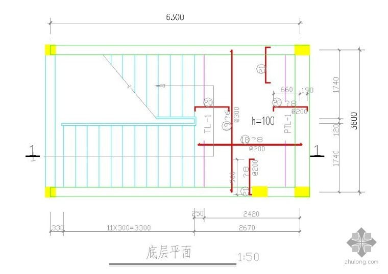 砖混结构办公楼结构施工图——供练习者使用
