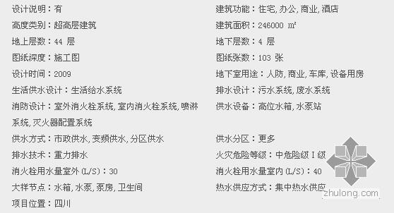 [四川]著名商业广场给排水全套施工图纸103张