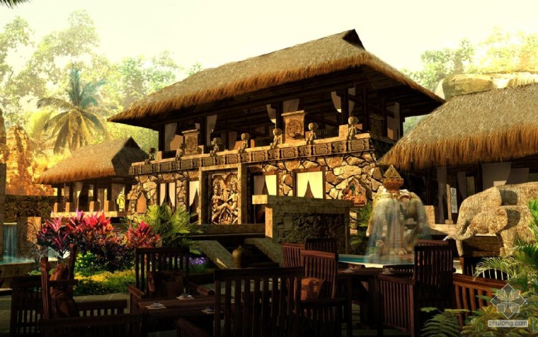 龙达温泉雨林温泉馆——都市中的热带雨林