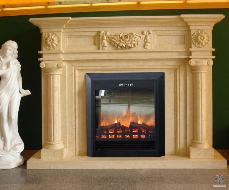 酒店KTV公装、别墅客厅样板间家装欧式壁炉设计案例图片