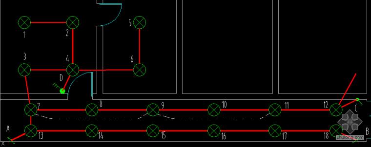 请问,照明平面图中怎么确定哪个灯组被哪个开关控制