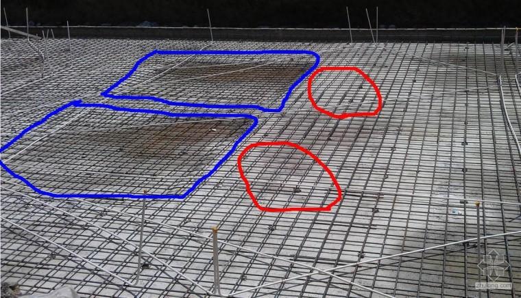 关于筏板基础没有柱坑问题?
