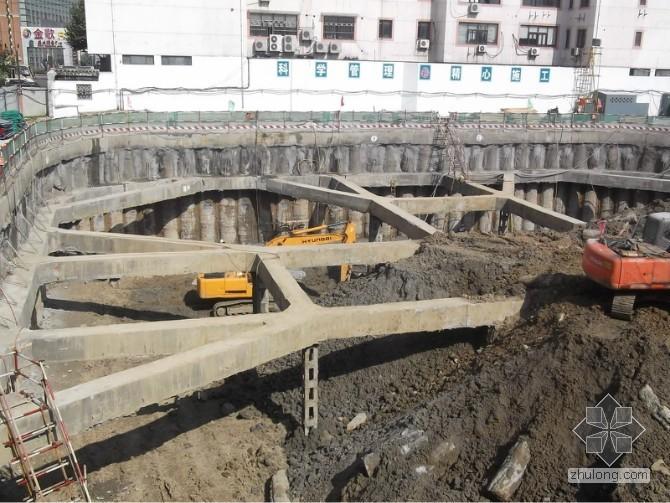 [工程实录]深基坑内支撑基坑开挖顺序图