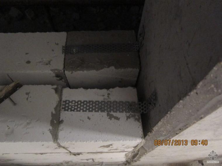 砌筑墙体与混凝土柱的连接