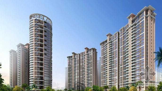 一类高层商业公寓住宅楼全套施工图纸(含地下室人防、计算书)