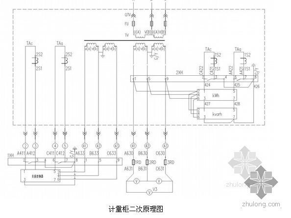 CAD大型项目供配电工程全套电气图纸(含完整二次控制原理图)