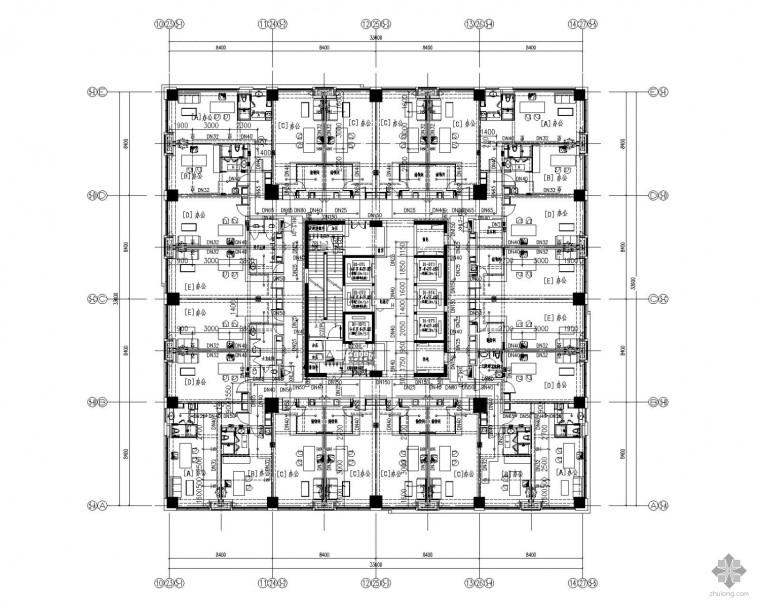 [广东]大型综合广场给排水消防施工图(商业、娱乐、办公、酒店)