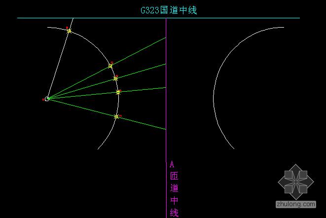 5800计算器内置公式与公路平面交叉路口圆弧线上点位坐标的限制