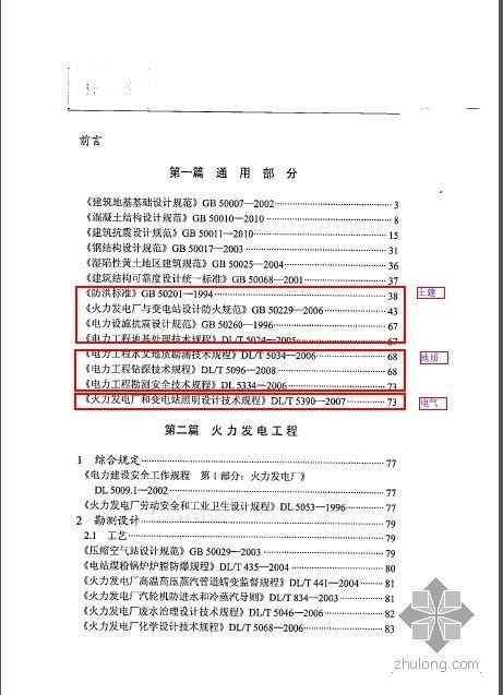 工程建设标准强制性条文 电力工程部分(2011年版)