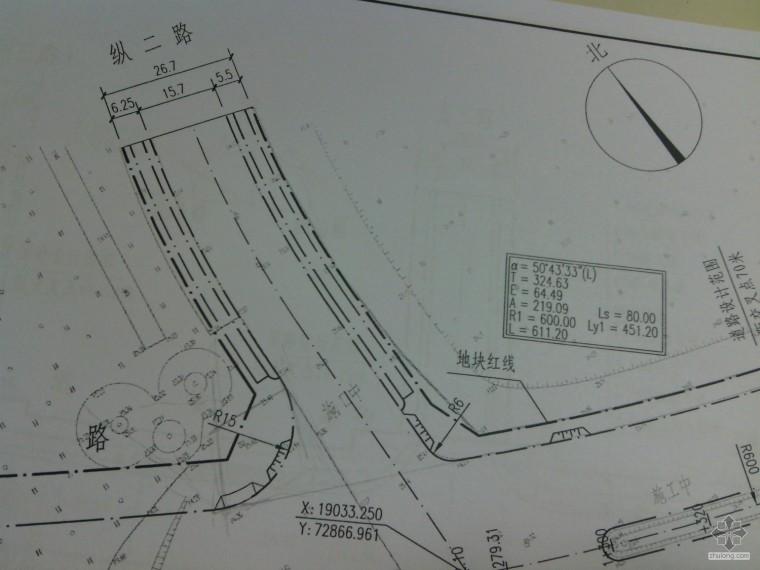 交叉口人行道路面的工程量应如何计算