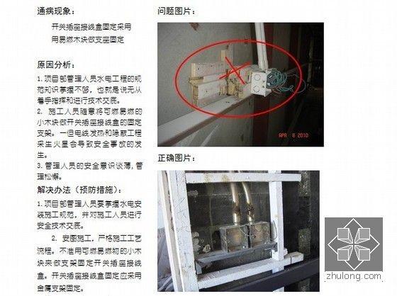 机电安装工程质量通病与预防(图文讲解 CAD示意图)