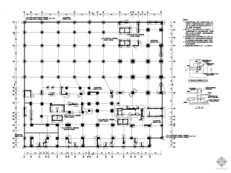 [上海]二十八层商业住宅综合楼全套电气图(裙楼 塔楼 地下三层