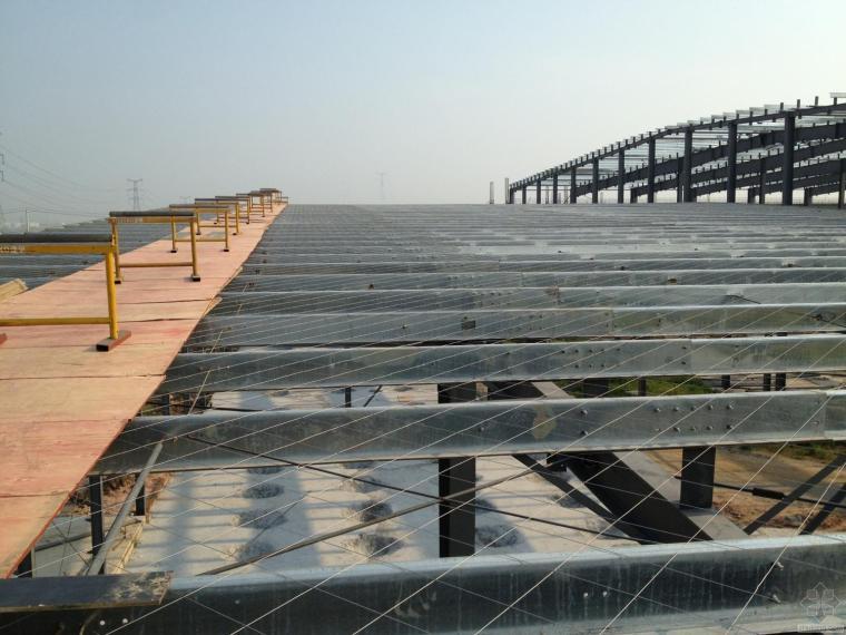 圆弧屋面整板屋面彩钢瓦安装技术(新技术)