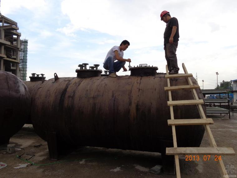 [工程实录]发电机及锅炉的埋地油罐全程安装记录