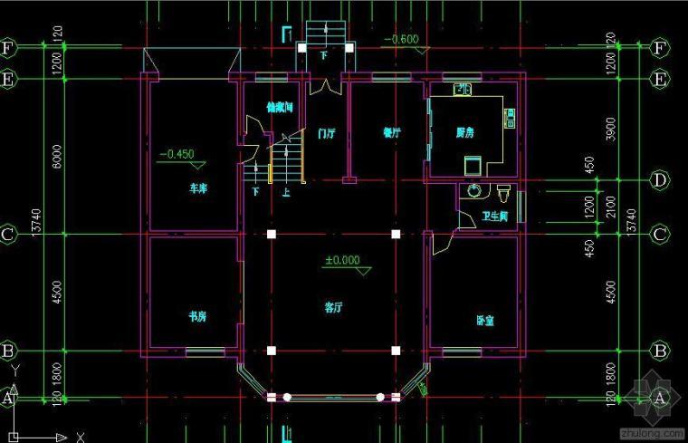 适合农村的经济型别墅CAD图纸